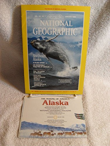 NATIONAL GEOGRAPHIC MAGAZINE JANUARY 1984 WITH MINT ALASKA MAP Whales Cataonia