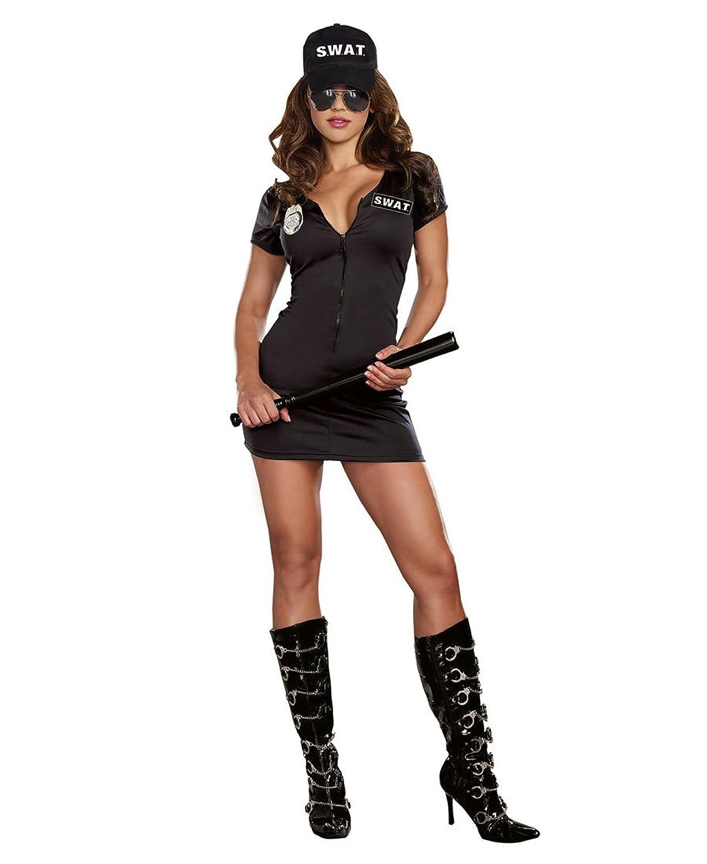 sc 1 st  Amazon.com & Amazon.com: Dreamgirl A9981 SWAT Police Sexy Womens Costume: Clothing