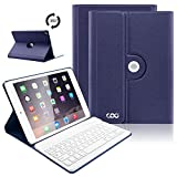 iPad Keyboard Case for iPad 2018 (6th Gen, 9.7''), Ultra Lightweight Stand Portfolio Cover Case with Detachable Wireless Keyboard for Apple New iPad 9.7 2018/2017 Tablet (Dark Blue)