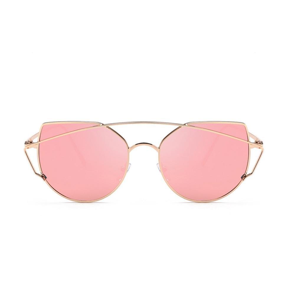 fb4a29f91f9 Amazon.com  Clearance BEUU Personalized Big Frame Beam Sunglasses Women Men  Retro Fashion Shades Integrated Uv Glasses (B)  Clothing
