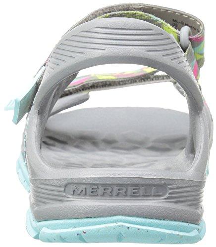 Merrell Mi Hydro Drift, Sandalias de Senderismo para Niñas Multicolor (Grey/Multi)