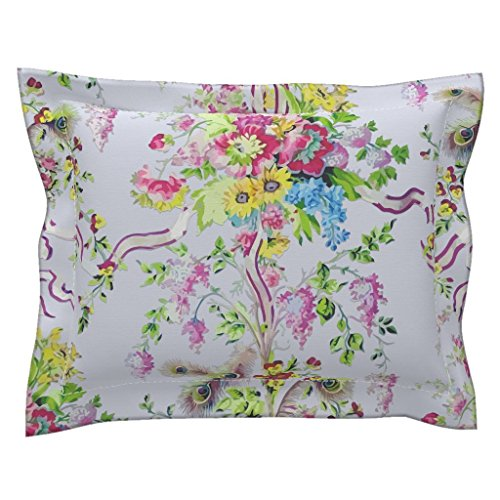 Roostery Marie Standard Flanged Pillow Sham Rococo: Marie Antoinette's Boudoir - Painted by Bonnie Phantasm Natural Cotton Sateen Made - Boudoir Pillow Flanged