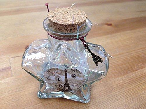 (Fancy105 Origami Star Shaped Jar Glass Favor Bottle with Cork)