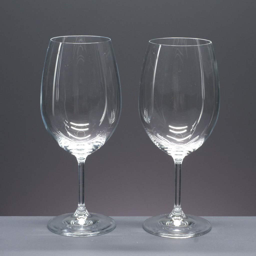 Set//Estuche de 2 Copas de Cristal para Vino o Agua talladas a Mano colecci/ón CRISTALLIN.