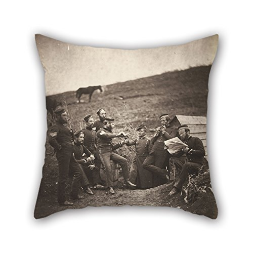 Cordial Bath (Oil Painting Roger Fenton - L'Entente Cordiale Pillowcase 18 X 18 Inches / 45 By 45 Cm Best Choice For Study Room,lounge,home,kids,home Office,girls With 2 Sides)