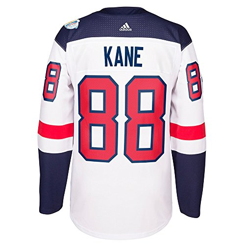 adidas Patrick Kane USA NHL White 2016 World Cup of Hockey Premier Away Jersey For Men (S)