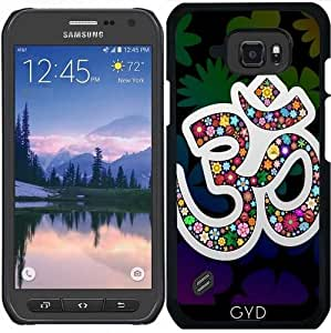 Funda para Samsung Galaxy S6 Active - Namaste Símbolo Floral De Yoga by BluedarkArt