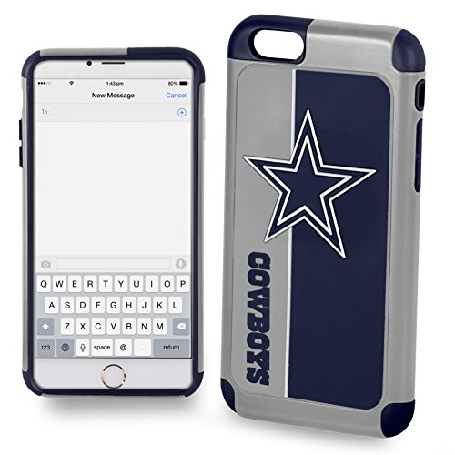 Forever Collectibles POP1016-00001 iPhone 7 Dual Hybrid Bold Series Case for NFL Dallas ()