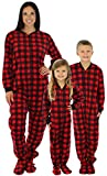SleepytimePjs Family Matching Fleece Onesie, Womens (STM17-PLA-W-CAN-MED)