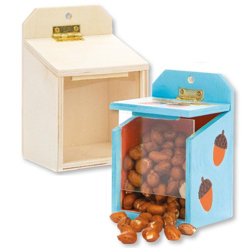 Wooden Squirrel Feeder Boxes Craft (Pack of 2)