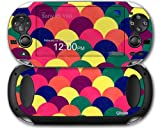 Brushed Cirlces Multi Dark - Decal Style Skin fits Sony PS Vita