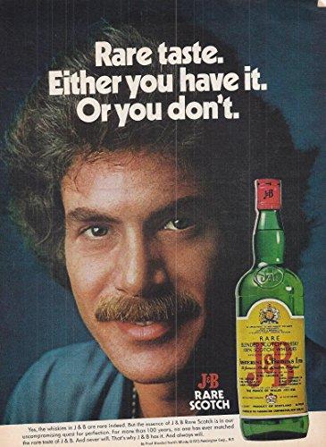 Whiskey Advertisement - 1975 Vintage Alcohol Advertisement J&B Rare Scotch Whisky
