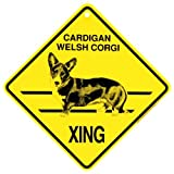 Cardigan Welsh Corgi Xing caution Crossing Sign dog Gift