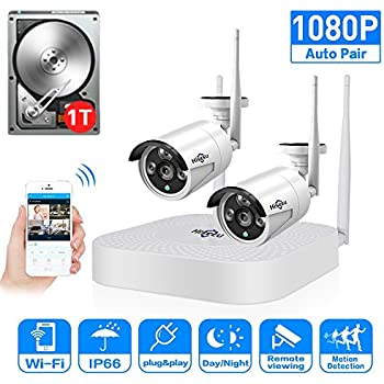 2CH 960P HD Video Wireless Security Camera System,HisEEu Extensible 4 channel 1080P WiFi NVR Kits for 2PCS 1.3MP Wireless Waterproof Bullet IP Cameras ...