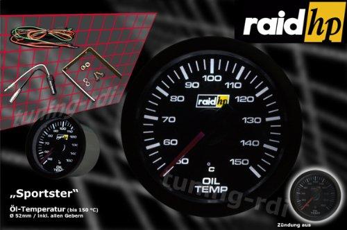 Raid HP 660175 Zusatzinstrument /Öltemperaturanzeige Serie Sport