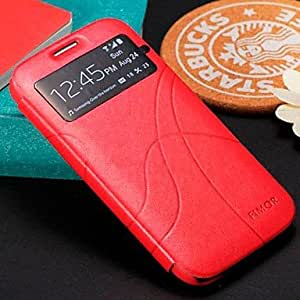 Buy Attractive Window Opened Mobile Phone Leather Case for Samsung S4 I9500 5 colors , Black