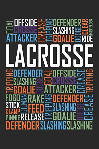 Lacrosse Words: 6x9 Ruled Notebook, Journal, Daily Diary, Organizer, Planner por NickD D. Publishing