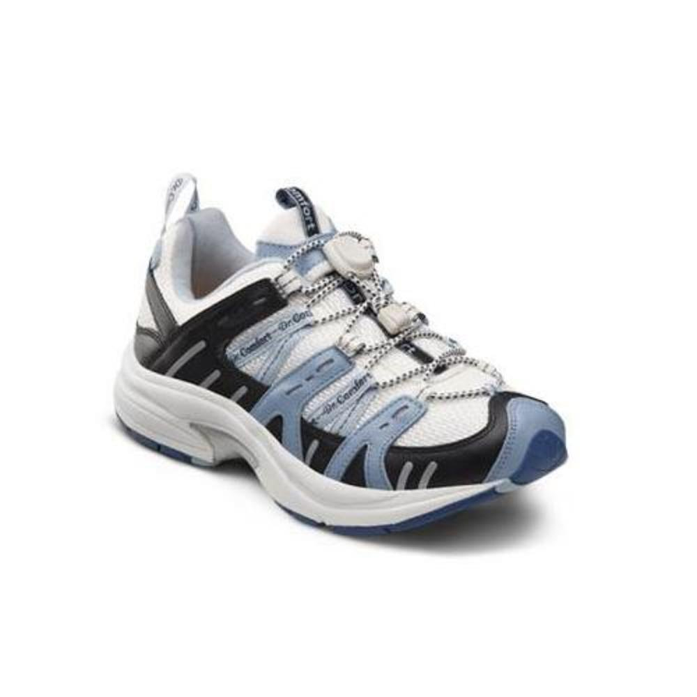 Dr. Comfort Refresh-X Women's Therapeutic Double Depth Shoe: White/Blue 7.5 X-Wide (XW/4E) Lace by Dr. Comfort (Image #2)