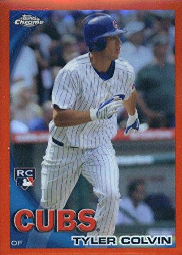 (2010 Topps Chrome Orange Refractors #181 Tyler Colvin Chicago Cubs Baseball Card)