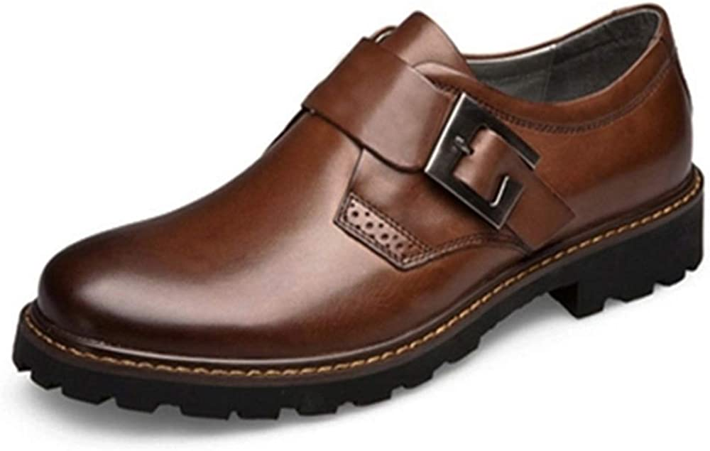 Buckles are Optional CHENJUAN Shoes Mens Fashion Oxford Casual Comfort OX Leather Lace Up Classic Leisure Shoes