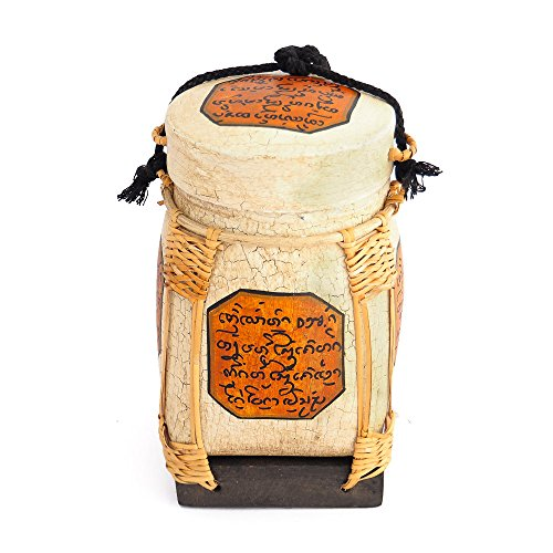 Rice Basket with Thai Writing Giving Blessings (Blessing Basket)
