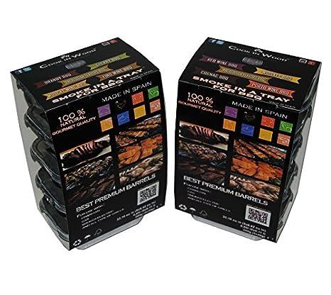 virutas de madera de roble para ahumar Brandy-Sherry-Moscate-Andaluces-Fino/ Smoking chips in Tray BBQ 5x40g: Amazon.es: Hogar