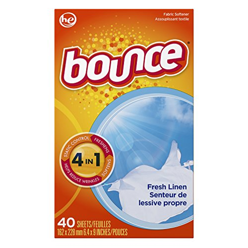 Bounce Fabric Softener Sheets, Fresh Linen, 40 Count