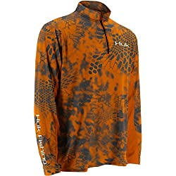 Huk Men's Kryptek Icon 1/4 Zip, Kryptek Inferno, X-Large