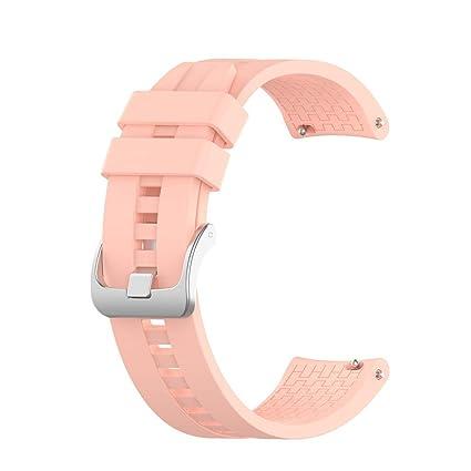 Baohooya Correa para Huawei Watch GT Active 46mm - Silicona Sports Pulsera - Repuesto Liberación Rápida Banda Correa de Reloj Strap para Hombre Mujer