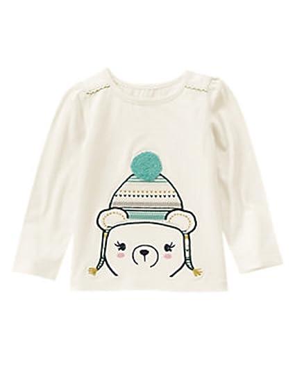 7b5fe4eb4 Amazon.com  Gymboree Baby   Toddler Girl Cozy Bear Tee (6-12 Months ...