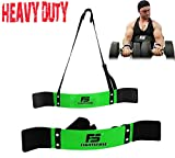 SF Arm Blaster Biceps Curl Triceps Muscle Isolator Bomber Fitness Gym Workout Training Support New (Green)