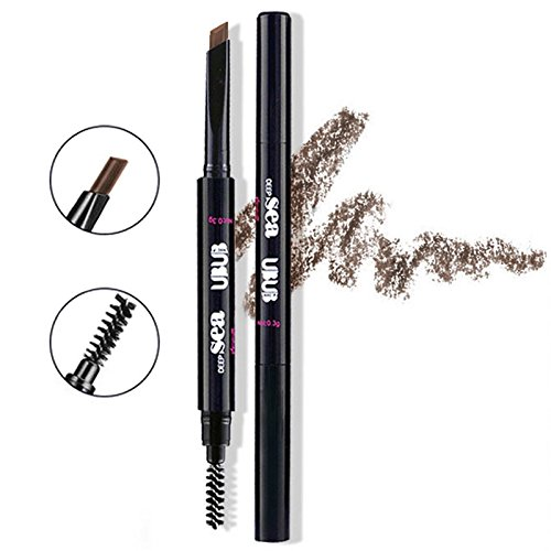 HeyBeauty Eyebrow Pencil with Brow Brush, Waterproof Automatic Makeup Cosmetic Tool, Dark (The Makeup Corrector Pencil)