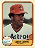 1981 Fleer Baseball Card #59 Cesar Cedeno Near Mint/Mint