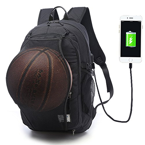 Travel Outdoor Computer Backpack Laptop Bag (Black) - 3