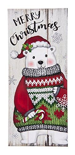 Ganz North Pole Friends Merry Christmas Polar Bear Wall Plaque