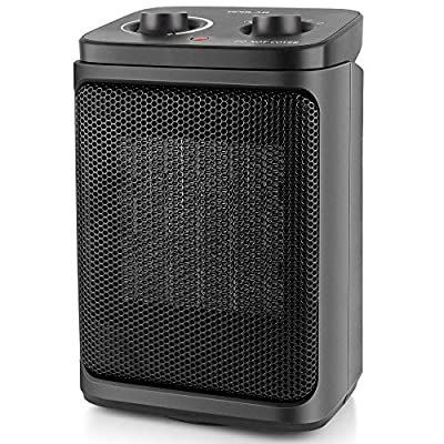 Portable Ceramic Space Heaters with AdjustableThermostat, 800/1500W, Oscillating Mode, Compact Quiet Personal Small Electric Floor Heater Safe for Winter Indoor Use Home Bedroom Office Desk