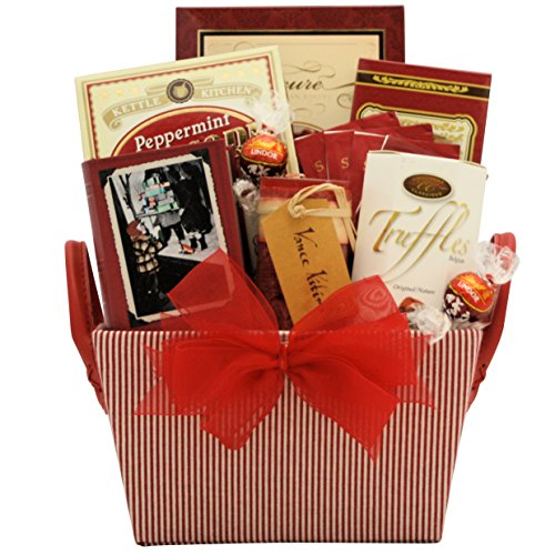 GreatArrivals Christmas Holiday Gift Basket: Peace on Earth Spa - Red