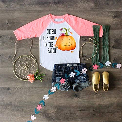 Cutest Pumpkin In The Patch Halloween Shirt Pumpkin Patch Outfit Halloween Outfit Pumpkin Shirt Halloween Top Halloween Raglan Halloween Gift -