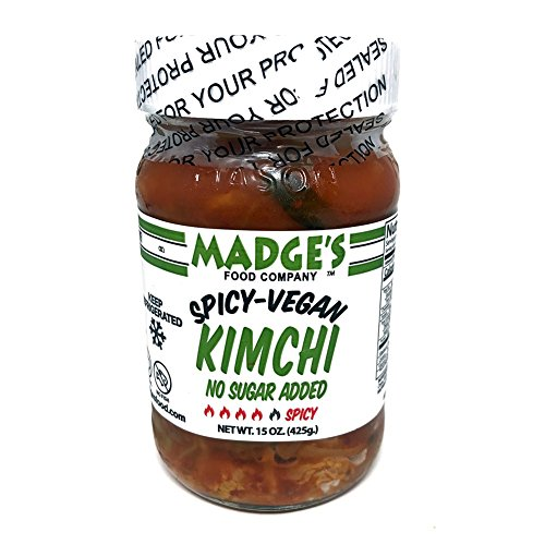 Price comparison product image Madge's Vegan Kimchi Spicy 15 oz - No-Sugar Added - Fermented - Raw - Probiotic