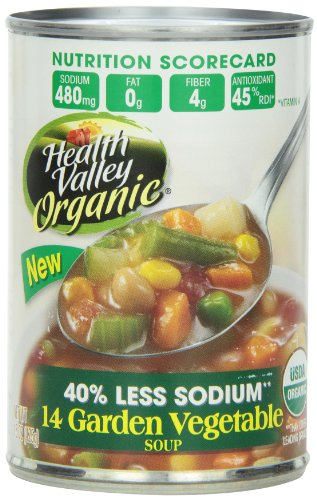 Health Valley Organic Soup, 14 Garden Vegetable, 15 Ounce (Pack of (Vegetable Fat)