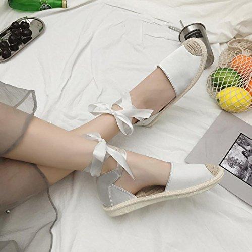 Dames Sandalen Voor Dames, Dames Tienermeisjes Lage Hak Enkelbandje Sandalen Zomerse Gladiatorschoenen Wit