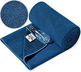 Heathyoga Non-Slip Hot Yoga Towel, Stickyfiber Yoga Towel with Silicone Grip & Free Spray Bottle, Yoga Mat Towel for Bikram Hot Yoga, Pilates