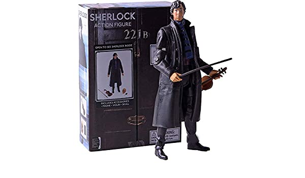 Toys & Hobbies Fast Deliver Sherlock Action Figure Detetive Sherlock Holmes With Phone Violin Skull Poseable Arms Pvc Collectible Model Toy The Latest Fashion