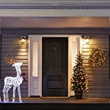 NOMA Pre-Lit Christmas Wreath for Front Door