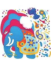 Baker Ross Kits Costura Ambari Elefante Cojín (Paquete de 2) - Artes y Manualidades para Niños