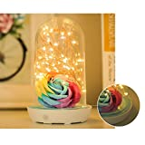 Zehui Night Light USB Chargeable Bed Lamp Stylish Night Light Birthday Christmas Gift Home Decoration Light Blue Electric Storage Style (Without Plug)