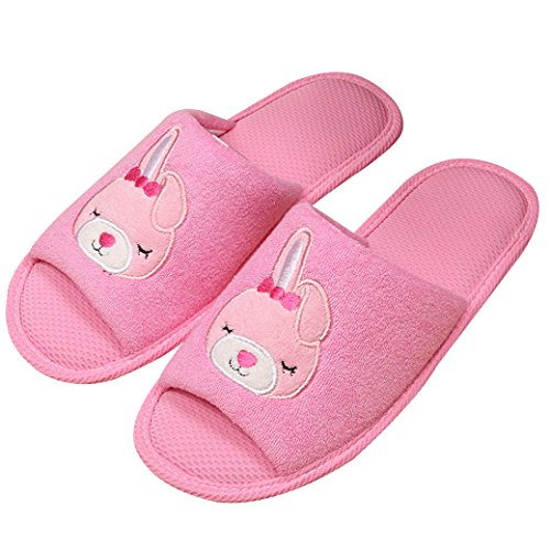 Euro Sky Black Cat Antislip Waterproof Indoor Slippers Huishoud Schoenen Roze