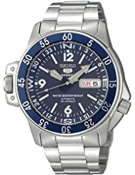 Seiko 5 Sports #SKZ209J1 Mens Atlas Map Meter Stainless Steel Automatic Dive Watch