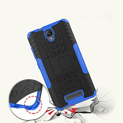 OFU®Para ZTE Blade L5 Plus 5.0 Smartphone, Híbrido caja de la armadura para el teléfono ZTE Blade L5 Plus 5.0 resistente a prueba de golpes contra la lucha de viaje accesorios esenciales del teléfon rojo