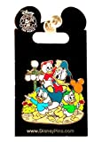 Disney Pin Donald Duck with Nephews Huey Dewey and Louie at Park Streetlight Balloon